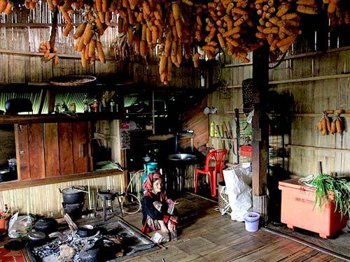 Karen house, Chiang Dao National Park.