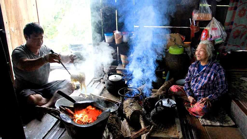 Karen family house, Chiang Dao National Park.