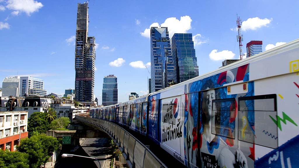 BTS Skytrain in Bangkok.
