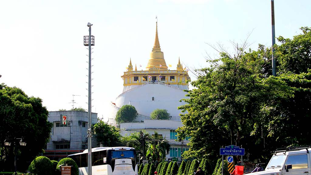 The Wat Saket and the Golden Mountain.