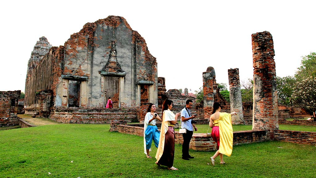Remains of an old monastery in Lopburi.