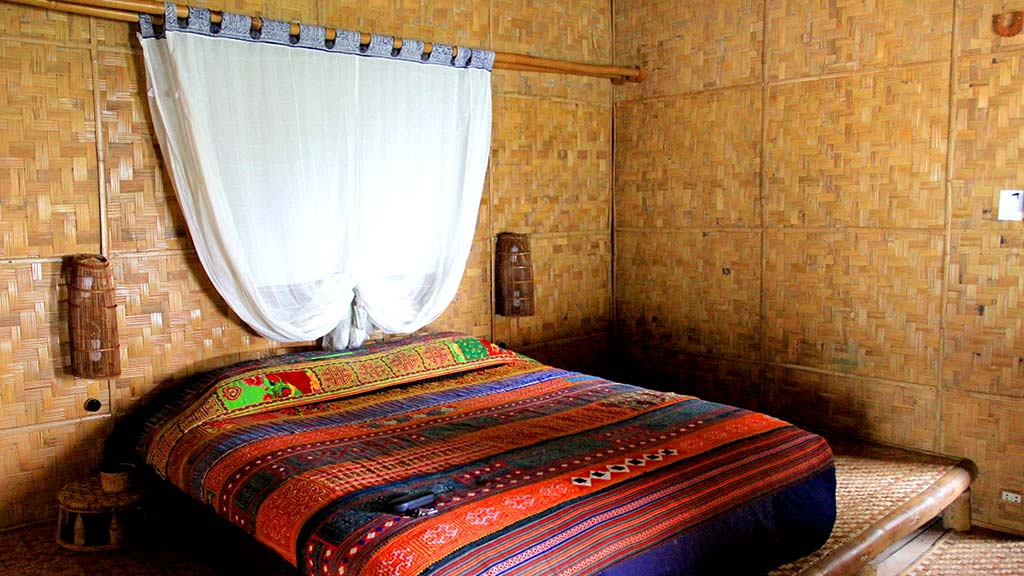 Private room at the village resort.
