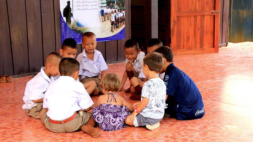 Hill tribe local school.