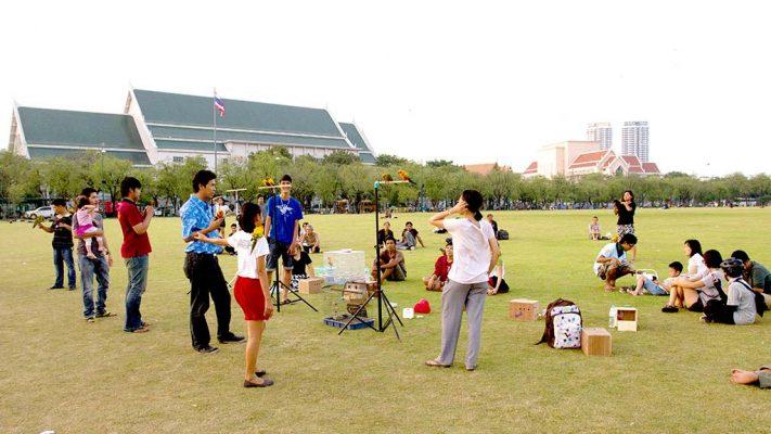 Sanam Luang esplanade, Bangkok.