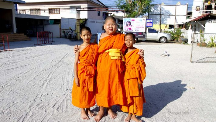 Students of a Buddhist school.