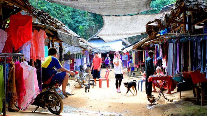 Padaung (Long-neck) tribe village