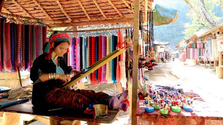 Padaung (Long-neck) woman.